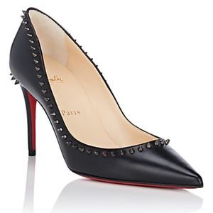 Louboutin pumps with spiked trim